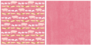 "Pigs 12x12"" double-sided paper picture"