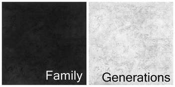 "Family-Generation 12x12"" double-sided paperons picture"