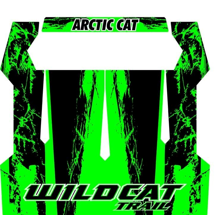 Arctic Cat Inc Wildcat Trail Xt Roof Cat Wraps Team