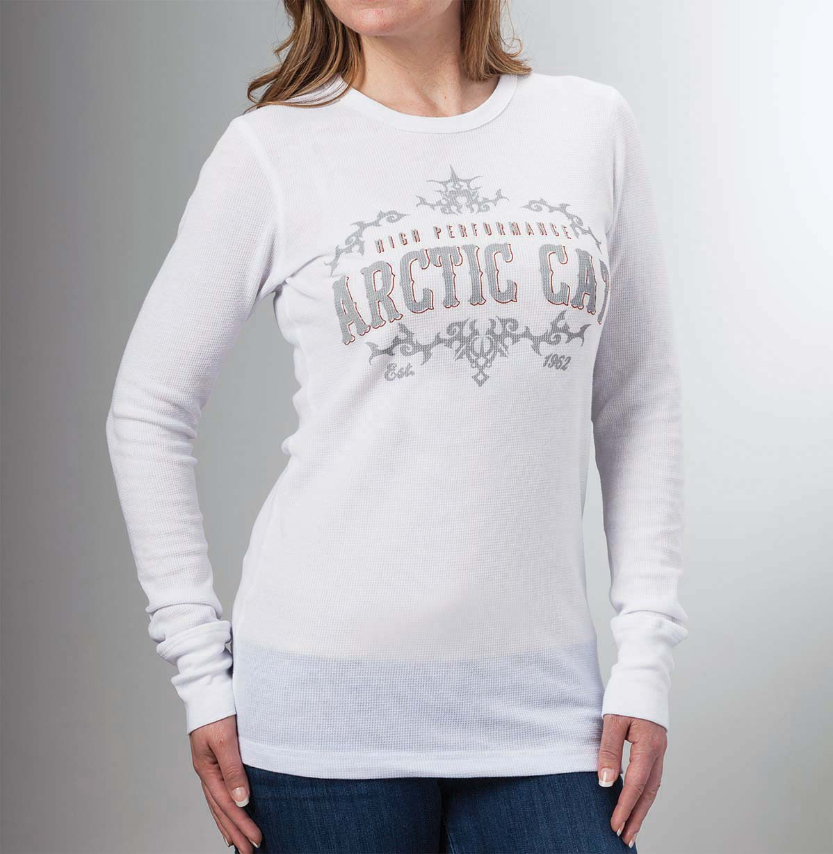 Arctic cat inc arctic cat thermal l s t shirt white for White thermal t shirt