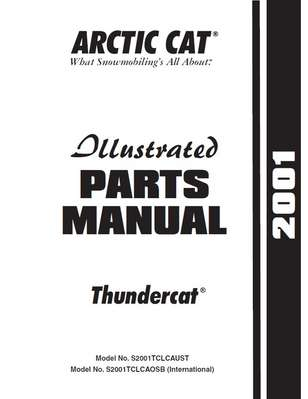 Thundercat Parts on Arctic Cat  Inc  2001 Thundercat 1000