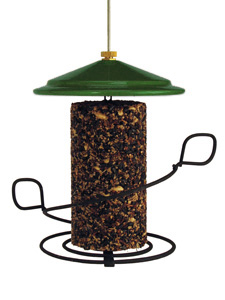 WBU Seed Cylinder Bird Feeder - Green Roof picture