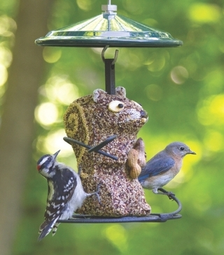 Squirrel Seed Cylinder & Feeder Combo picture