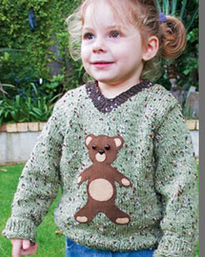 K582  Teddy Bear V-Neck Sweater picture