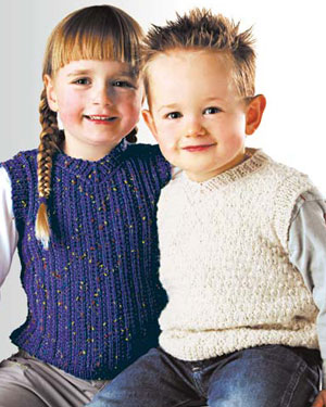 K554 Child's Vest in 8ply / DK picture