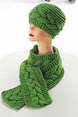 P003e - Anaconda Scarf and Hat - PDF
