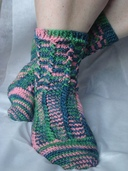 CCS55 - Cabled Crochet Socks
