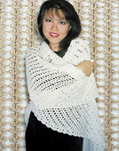105LC Easy Crocheted Triangle Lace Shawl