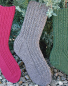 AC85 Chain of Hearts Socks - in 3 yarn weights
