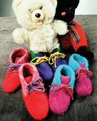 CH7 Childrens Felt Boot Slippers