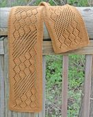 AC80 Streaming Leaves Lace Scarf