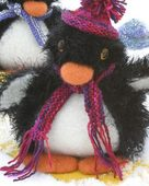 FT230 Felt Playful Penguins by Debbie Radtke