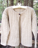 P043 - Stone Cotton Cardigan
