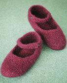 AC66 Crocheted Felt Ballet Slippers