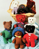 FT201 Felt Baby Bears with Hats