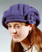 AC3 Basic Beret with Knit Flower