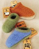 CH38 Children's Felt Clogs - in 5 sizes
