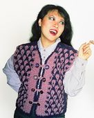 104LC Crocheted Trellis Vest by Lily M. Chin