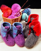 AC13 Felt Boot Slippers - men's & women's sizes
