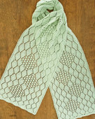 AC83 Hydrangea Lace Scarf - In two widths