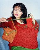 106LC A Trio of Crocheted Bags