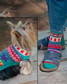 AC46   Walking The Dog - Socks & Dog Coat