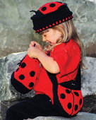 CH25 Lovable Ladybugs - hat & two different bags