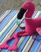 FT221  A Flamingo Beach Party