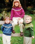 CH35 Sheep Go Round, Too!  Round yoke sweater