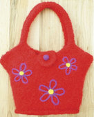 AC63 Flowers On The Go Felt Tote