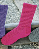 AC51 Railroad Rib Socks in 3 yarn weights