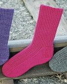 AC51 Railroad Rib Socks in 3 yarn weights