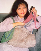 107LC Trio of Knit Bags by Lily M. Chin