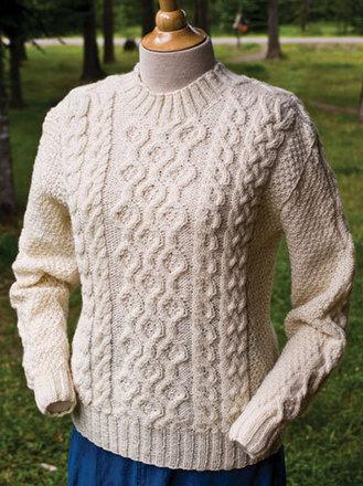 Free Aran Knitting Pattern : P036 - Plain Vanilla Aran Fiber Trends