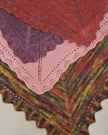 S2016 Edged In Lace - Square shawl or throw picture