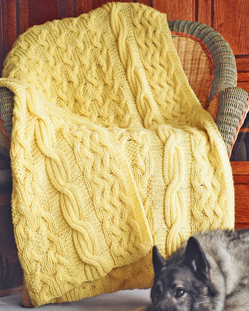 111LCe Reversibly Cabled Afghan - PDF picture