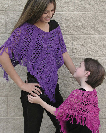 AC69 Easy Lace Poncho - Sizes for women and girls picture