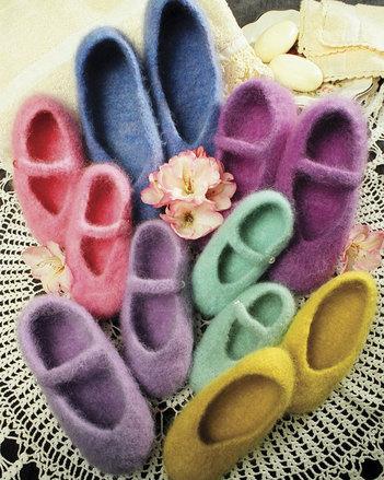 AC14 Felt Ballet Slippers for women & children picture