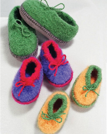 CH32   Crocheted Felt Slippers picture