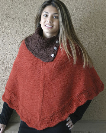 AC70 Laura's Poncho - with contrast collar picture
