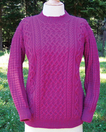 P016e - Dancing Ribbon Aran - PDF picture