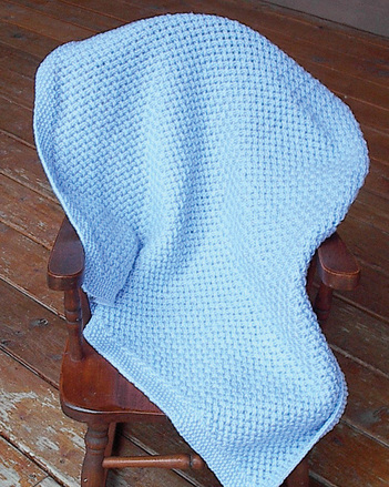 P005 - Basketweave Mesh Baby Blanket picture