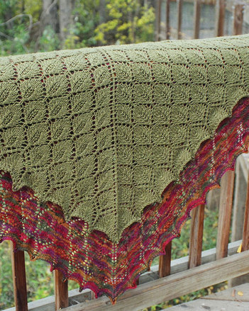 S2010e The Leaf Lace Shawl  -  PDF picture