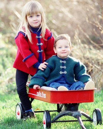 CH13 Children's Felt Jacket - in 3 sizes picture