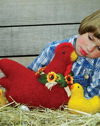 FT209 Henrietta & Family - Felt hen and chicks picture