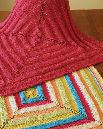CH44 Ribbons Baby Blanket - in DK weight yarn picture