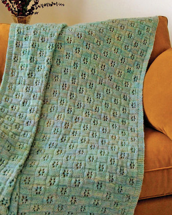 FT226e Flower Eyelet Afghan - PDF picture