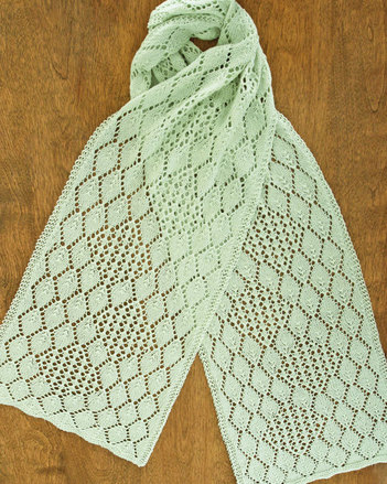 AC83 Hydrangea Lace Scarf - In two widths picture