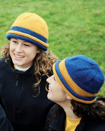 AC53 School Colors Hat - in 3 yarn weights picture