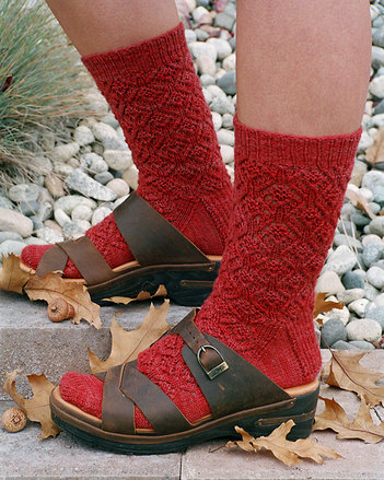 AC47 Acorn Lace Socks - by Evelyn Clark picture